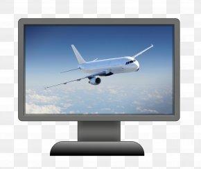 Plane - Airplane Narrow-body Aircraft Air Travel Computer Monitors PNG