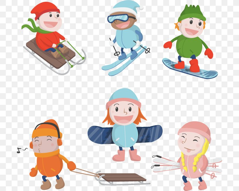 Kids winter Christmas games playground children playing sport games of  kinds snowball, skating, kiddy holidays playtime Clipart   k60178143    Fotosearch