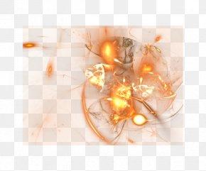 Orange Background Pattern - Fractal Orange Clip Art PNG