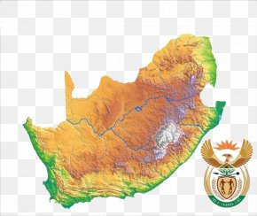 Map Geography Of South Africa - South Africa Map Illustration PNG