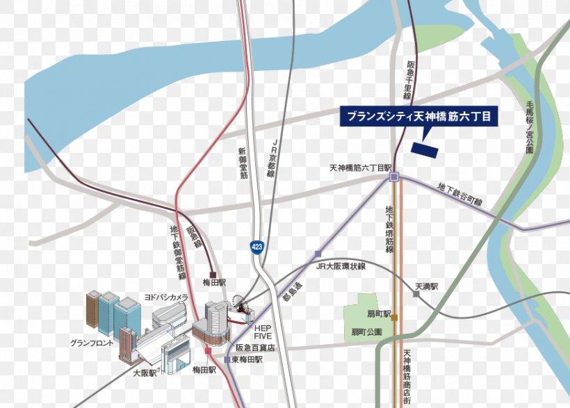 Tenjimbashisuji Rokuchōme Station ブランズシティ天神橋筋六丁目 6 Chome Tanimachi Line Real Estate, PNG, 873x626px, Real Estate, Area, Concept, Diagram, Intersection Download Free