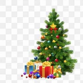 Christmas Tree HD Free Matting Material - Santa Claus Christmas Tree Christmas Ornament Clip Art PNG