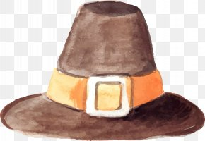 Vector Hand-painted Hat - Hat Euclidean Vector Watercolor Painting Computer File PNG