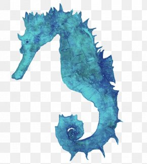 Animals Watercolor - Seahorse Watercolor: Animals Watercolor Painting Art PNG