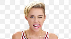 Britney Spears - Miley Cyrus Wink Tongue Drawing PNG