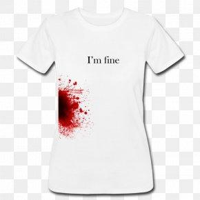 T-shirt Jersey - T-shirt Blood Red Top PNG
