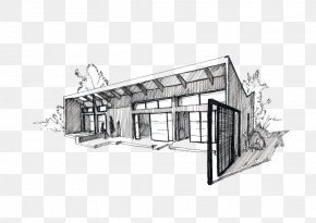 House - Architecture House Roof Sketch PNG