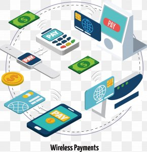 Floating Wireless Payment Tools And Equipment - Wireless Wi-Fi Cycling PNG
