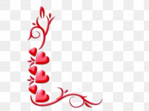 Valentine Corner Cliparts - Love Valentines Day Heart Clip Art PNG