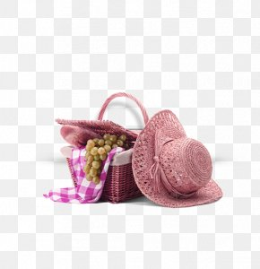 Picnic Bamboo Basket Fruit Meal Cloth Hat Decoration Pattern - Picnic Icon PNG