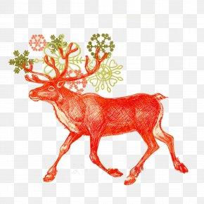 Deer - IPhone 6 Plus IPhone 5 IPhone 7 Santa Claus PNG