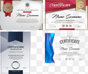 Exquisite High-end Certificate Design Vector Material - Euclidean Vector Download PNG