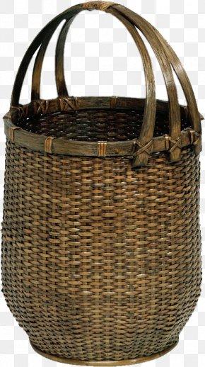 Baskets Bamboo Basket - Basket Rattan Bamboo PNG