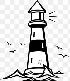 Lighthouse Building Cliparts - Free Content Black And White Clip Art PNG