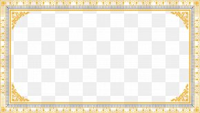 Hand-painted Gold Frame Pattern Vector - Yellow Area Pattern PNG
