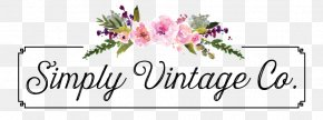 Jewelry Store Logo - Floral Design Watercolor Painting Cut Flowers Clip Art PNG