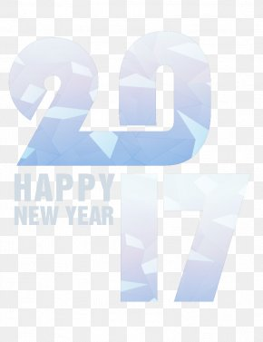 Vector Happy New Year 2017 Font - Typeface Font PNG