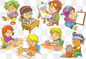 Children In School - Child Euclidean Vector Illustration PNG