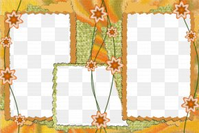 Yellow Star Decorative Border Frame - Picture Frame PNG