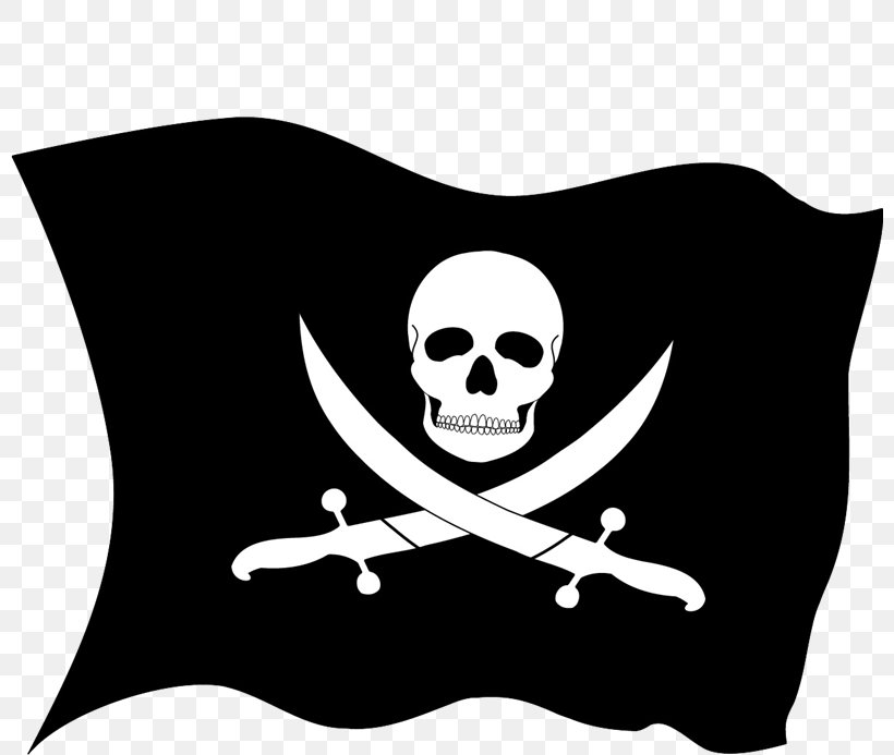 Jolly Roger Piracy Flag Clip Art, PNG, 800x693px, Jolly Roger, Black And White, Bone, Buccaneer, Calico Jack Download Free