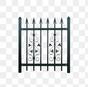 Iron Fence - Fence Wrought Iron Gate Iron Railing Steel PNG
