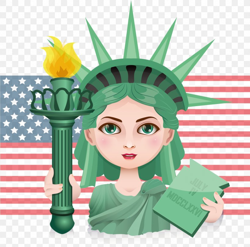 Statue Of Liberty Illustration, PNG, 1762x1741px, Statue Of Liberty, Art, Cartoon, Clip Art, Drawing Download Free
