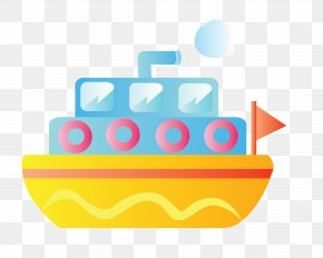 Cartoon Yellow Cruise Ship Vector - Ship Watercraft Cartoon PNG