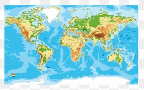 World Map - Earth Continent World Map PNG