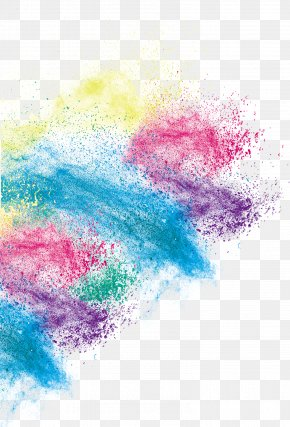 Creative Color Art Dust Effect - Inkjet Printing PNG