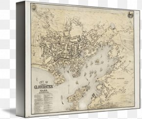 Map - Gloucester Map Gallery Wrap Canvas Art PNG