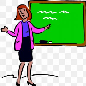 Chalk Board Picture - Student Teacher School Education Clip Art PNG