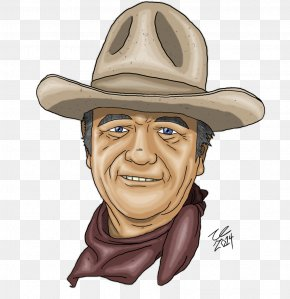 John Wayne - Cowboy Hat Fedora Cartoon PNG