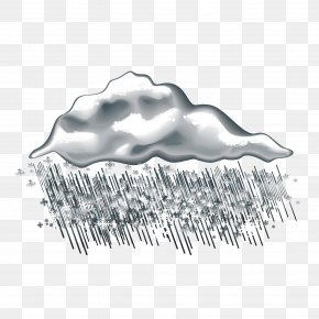 Gray Clouds And Snow - Cloud Rain Snow PNG