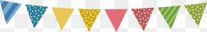 Bunting Flag Pull - Baby Shower Idea Holiday Child PNG