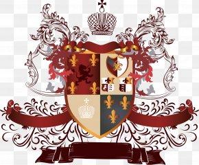 Retro Royal Shield - Coat Of Arms Heraldry Escutcheon PNG