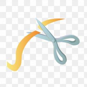 Vector Scissors Ribbon - Scissors Ribbon Euclidean Vector PNG