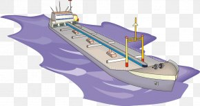 Ship On The Sea - Seawater Ship PNG
