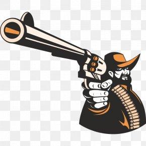 Handgun - Cowboy Firearm Gun Pistol PNG