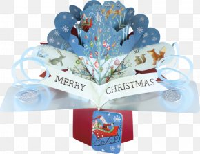 Christmas - Christmas Tree Pop-up Ad Reindeer Greeting & Note Cards PNG