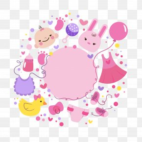 Cute Birthday Party Vector - Baby Shower Party Birthday Greeting Card PNG