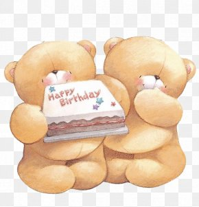 Two Bears - Bear Forever Friends Birthday Greeting Card Clip Art PNG