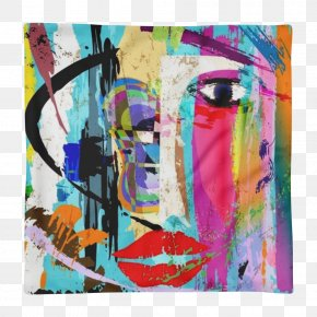 Pop Art Frame Canvas Painting - Stock Photography Abstract Art Painting Face PNG