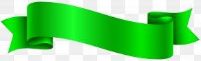 Green Banner Transparent Clip Art Image - Banner Green Clip Art PNG
