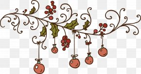 Christmas Decoration - Christmas Ornament Mistletoe Clip Art PNG