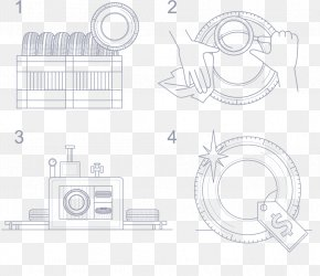 Used Tires For Road - Sketch Line Art Product Design Cartoon Pattern PNG