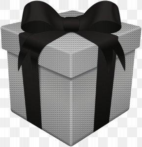 Gift Box White Black Transparent Clip Art - Gift Box White Clip Art PNG