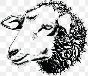 Sheep - Sheep Goat Drawing Line Art Clip Art PNG