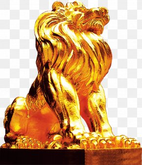 Lion, Gold Lion, Taobao Material - Lion Photography Download PNG