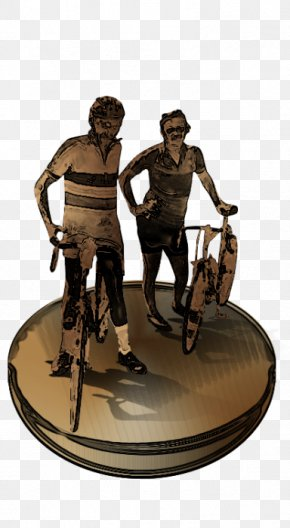 Bike Routes Across America - RAGBRAI Concept Cycling Columnist Statue PNG