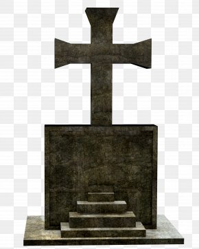 Cemetery - Cross Headstone Religion Grave Cemetery PNG